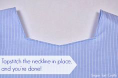 How to sew a simple neckline facing