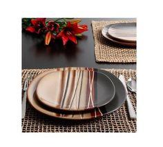 Stoneware Dinnerware Set Dinner Dishes 16 Piece Service Kitchen Plates Bowls Mug #StonewareDinnerSet