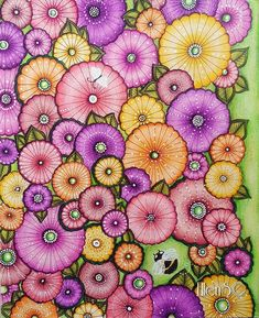 Field full of flowers from Ivy and the inky butterfly! Loved coloring this one! #ivyandtheinkybutterfly #johannabasford #inkyivy #arttherapy #colorindolivrostop #coloring_masterpieces #divasdasartes #nossa_vida_colorida #coloringmasterpiece#desenhoscolorir #coloring_secrets #coloringsecrets #artecomoterapia #carandache #prismacolor #luminance #posca #fabercastell #polychromos #ellens #coloriagepouradultes #arte_e_colorir #coloringforadults #docepapelatelier #coloringsecrets #bayan_boyan…