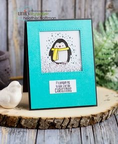 Houses Built of Cards: Penguining to Look a Lot Like Christmas - Shaker Card