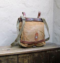Vintage 1950's Swiss Military Messenger Bag at Trustfund21