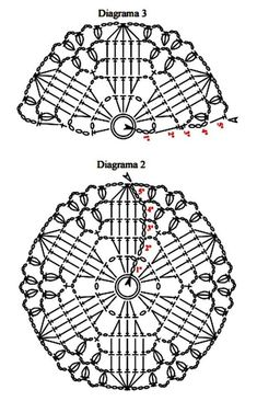 Crochet Squares, Crochet Mandala Pattern, Crochet Square Patterns, Crochet Circles, Crochet Diagram, Crochet Chart, Crochet Ball, Easter Crochet, Thread Crochet