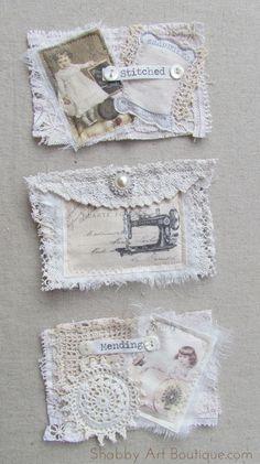 DIY vintage de ~ 3 Pocket Stockage Hanger - Shabby Art Boutique