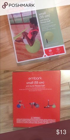 🎉NEW🎉Embark Anti-Burst Fitness Ball Brand New!!!!! Includes Pump Embark Other
