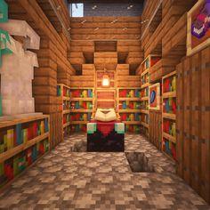 Easy Minecraft Houses, Minecraft Medieval, Minecraft Plans, Minecraft House Designs, Minecraft Survival, Minecraft Decorations, Amazing Minecraft, Minecraft Bedroom, Minecraft Tutorial