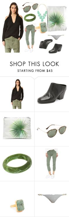 """set sale offer"" by denisee-denisee ❤ liked on Polyvore featuring Nili Lotan, Rachel Comey, Samudra, Ray-Ban, Dinosaur Designs, Ringly, Made By Dawn, Kendra Scott and vintage"