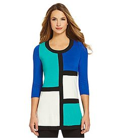 Chelsea and Theodore Colorblocked Tunic #Dillards