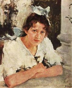 1889 Valentin Alexandrovich Serov (Russian painter, 1865-1911) P A Mamontova
