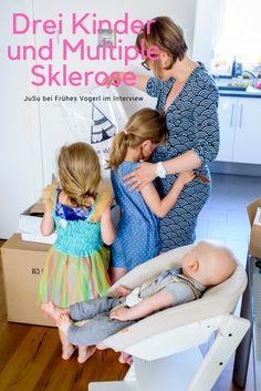 JuSu hat drei Kinder und Multiple Sklerose: in den Familienrollen bei Frühes Vogerl erzählt sie von ihrem Leben.