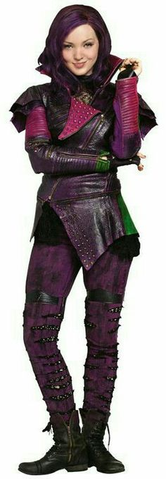 A gallery of Descendants publicity stills and other photos. Featuring Dove Cameron, Sofia Carson, Booboo Stewart, Cameron Boyce and others. Costume Descendants Mal, Disney Descendants Movie, Les Descendants, Disney Channel, Mal And Evie, Disney Decendants, Disney Halloween Costumes, Cosplay Costumes, Costumes 2015
