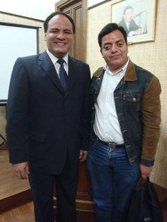 Periodista Abel Santibañez Collado y Freddie Armando Romero. (2013)