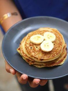 Petits pancakes à la banana pour se faire plaisir le samedi après-midi !