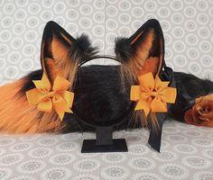 Faux Fur Accessories, Kawaii Accessories, Cat Ears Headband, Ear Headbands, Wolf Ears And Tail, Neko Ears, Furry Tails, Animal Tails, Accesorios Casual