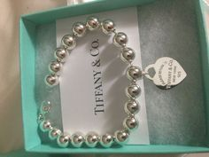 Beautiful Tiffany sterling silver ball bracelet.