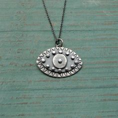 Protective Eye Sterling Silver Pendant by MUSIBATTY on Etsy