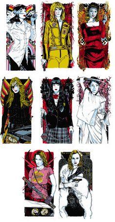 "hey-jude-don-t-make-it-bad: ""Tarantino Girls. Film Poster Design, Movie Poster Art, Tarantino Films, Quentin Tarantino, Yuka, Non Plus Ultra, Marijuana Art, Japanese Tattoo Art, Uma Thurman"