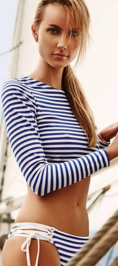 VitaminA 2015 Paros Stripe Rashguard Bikini