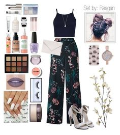 """""""#56"""" by reagan-libertyy ❤ liked on Polyvore featuring Pier 1 Imports, Rebecca Minkoff, Jacquie Aiche, Pilgrim, Verali, Laura Mercier, Huda Beauty, Morphe, LORAC and MAKE UP FOR EVER"""