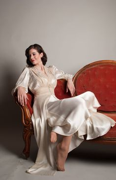 Vintage 1940s Bridal Lingerie  40s Silk by concettascloset on Etsy, $248.00