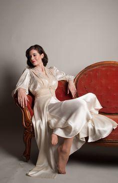 Vintage 1940s Bridal Lingerie  40s Silk by concettascloset on Etsy, $248.00