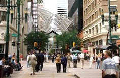 Explore historic Stephen Avenue Walk (8 Ave. S.W.) - it is lined with restaurants and shops.