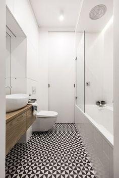 Geometryczna mozaika w łazience