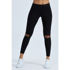 Joah Brown Cut Loose Legging ($68) ❤ liked on Polyvore featuring pants, leggings, black, stretch trousers, loose fit leggings, elastic waistband pants, loose leggings and legging pants