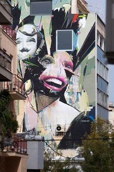 Athens street art by Alexandros Vasmoulakis