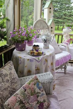 Tea on our Summer Porch