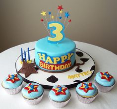 toy story cake and cupcakes Toy Story Cake Ideas Characters