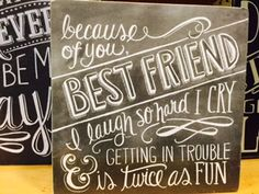 Perfect gift for your best friend. #BFF #besties #bestfriendsforever #homedecor Heritage Gift Shop, 801.582.1847