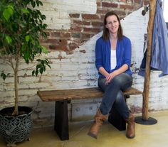 Faces of Bambeco - Julie loves the Reclaimed Railroad Tie Bench