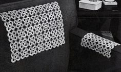 Bright Cluster Chair Set crochet pattern from Fine Crochet and Tatting, originally published by Coats & Clark, Book 259, in 1949.