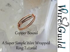 This is a beautiful sleek simple ring that can be worn by both men and women. The tutorial is provided by Wire Guild. Many more tutorials can be found at www...