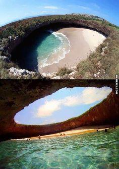 Hidden Beach, Marieta Islands, Mexico - MemePix