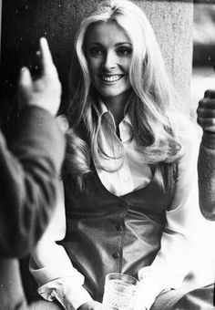 Sharon Tate on the set of 12 1969