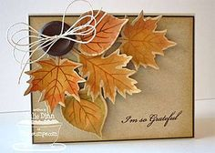 Kraft paper creation. Great fall or Thanksgiving Card