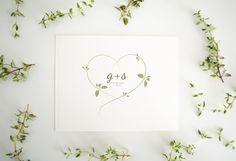 Custom Wedding Logo Herbs & Love by BuenoMarket on Etsy Herb Wedding, Green Wedding, Invitation Design, Invitations, Wedding Initials, Flower Logo, Wedding Logos, Wedding Inspiration, Wedding Ideas