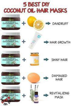 Your hair needs its natural oils to stay healthy. We found 5 of the best coconut oil hair masks which can help you to solve almost all your hair problems. hair tips Top Best DIY Coconut Oil Hair Masks for Every Hair Trouble Coconut Oil Hair Treatment, Coconut Oil Hair Growth, Diy Coconut Oil Hair Mask, Best Coconut Oil, Coconut Oil Uses For Skin, Coconut Oil Face, Coconut Oil Benefits, Coconut Oil For Dandruff, Coconut Oil Beauty