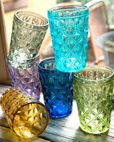 Colorful Highball Glasses. | Earthbound Trading Co.