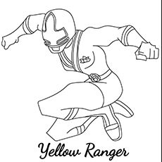 Yellow Ranger Set For Action More Information Top 25 Free Printable Mighty Morphin Power Rangers Coloring Pages Online