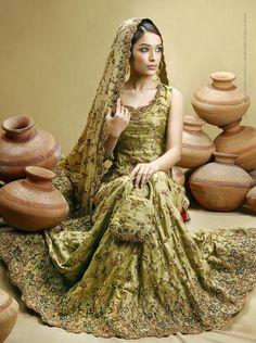 Beautiful Gold Bridal Lehenga!     Subtle and Pretty.