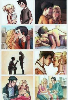 Percy and Annabeth through the ages