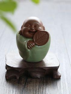 cute porcelain buddha, Leisurely and carefree Buddha