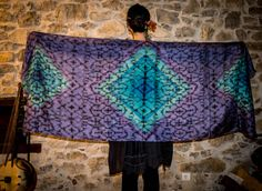 Shipibo, Shipibo scarf created by myself, Isis da Fonseca, Wikandah Design. You can buy on my store: www.etsy.com/pt/shop/wikandah