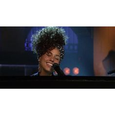 """Alicia Keys Debuts """"Hallelujah Sings """"In Common"""" on """"Saturday Night... ❤ liked on Polyvore featuring jewelry and watches"""
