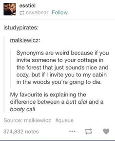 Synonyms are weird