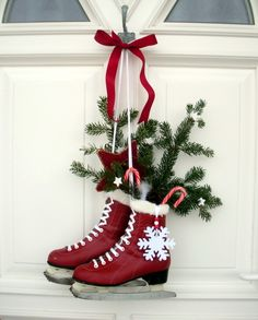 Paint the skates for a pop of red