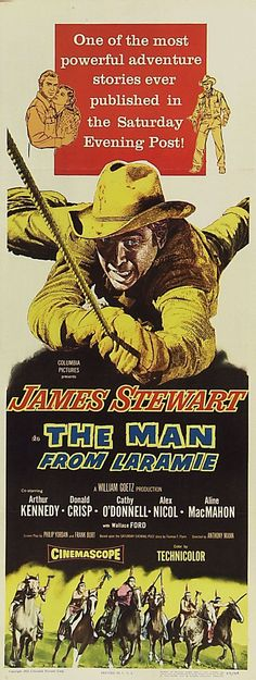 The Man From Laramie (1955). The Jimmy Stewart-Anthony Mann partnership redefined the Western hero.Read about all your favorite cowboys stars for free.  https://www.amazon.com/s/ref=nb_sb_noss?url=node%3D154606011&field-keywords=charlie+lesueur
