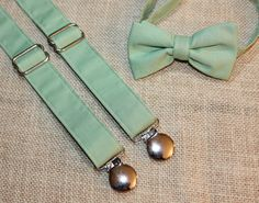 Hey, I found this really awesome Etsy listing at https://www.etsy.com/listing/187929529/sage-green-bow-tie-and-suspenders-set